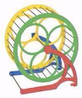 Природа колесо для хомяка металл+пластик, d14см