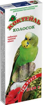 Природа колосок Коктейль для волнистых попугаев (гибискус,чумиза,кокос) 90г