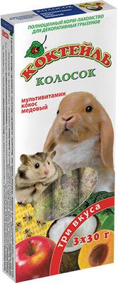 Природа колосок Коктейль грызунов (мультивитамин, кокос, мед) 90г
