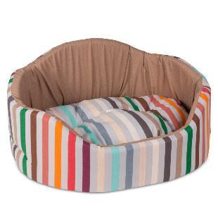 Природа Коралл №1 лежак для собак, цвет бежевый, 46х36х24 см