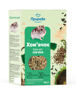 Природа корм для грызунов Хомячок, 500 г