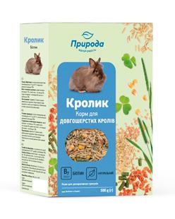 Природа корм для грызунов Кролик плюс биотин, 500 г
