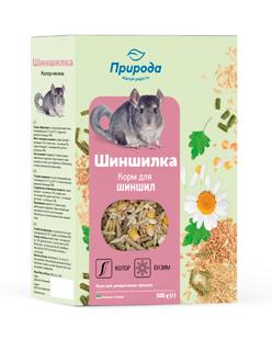 Природа корм для грызунов Шиншиллка колор+энзим, 500 г