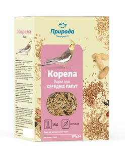 Природа корм для средних попугаев Корелла плюс йод, 500г