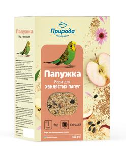 Природа корм для волнистых попугаев Папужка йод и эхинацея, 500г