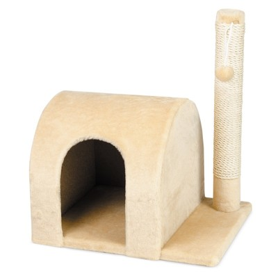 Природа Кот-дом дряпка для котов бежевая, 37х46х53 см