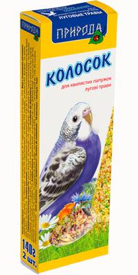 Природа Луговые травы - колосок для попугаев, 140г