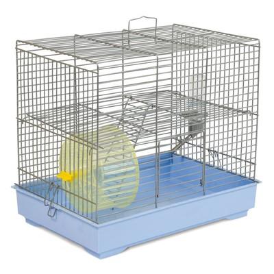 Природа Микки с колесом клетка для мелких грызунов, цвет прутьев хром, 37х25х30 см
