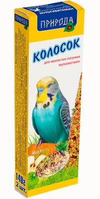 Природа Мультивитамин - колосок для попугаев, 140г