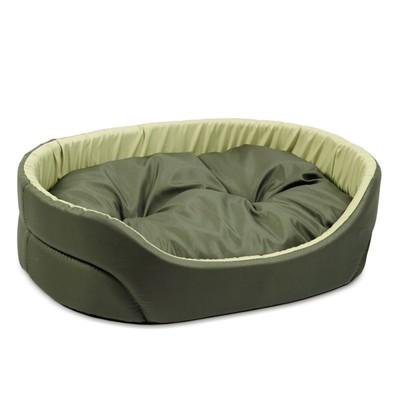Природа Омега №1 лежак для собак, цвет хаки/оливковый 43х34х13 см