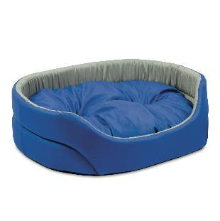 Природа Омега №2 лежак для собак, цвет серо-синий 55х43х15 см