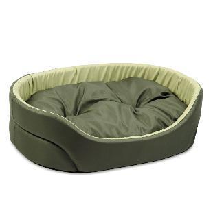 Природа Омега №3 лежак для собак, цвет хаки-оливковый 66х50х17 см