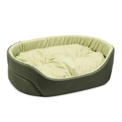Природа Омега №5 лежак для собак, цвет хаки/желтый 92х68х21 см