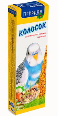 Природа Ореховый колосок для попугаев, 140г