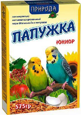 Природа Папужка Юниор - корм для молодых попугаев, 575г
