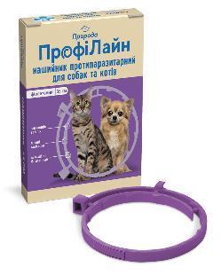 Природа ПрофиЛайн ошейник против блох и клещей 35 см, фиолетовый