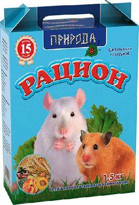 Природа Рацион для мелких грызунов, 1,5 кг