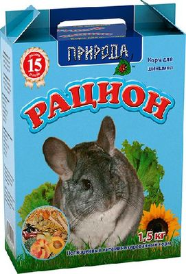 Природа Рацион для шиншилл, 1,5 кг СРОК 11.20