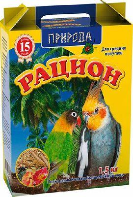 Природа Рацион для средних попугаев, 1,5 кг