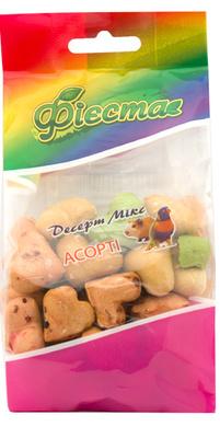 Природа Сердечки лакомство ассорти-печенье для грызунов, 100 г