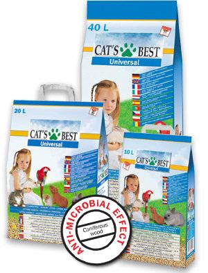 Rettenmaier (JRS) Cats Best Universal древесный наполнитель для кошачьих туалетов 20л/11кг Акция