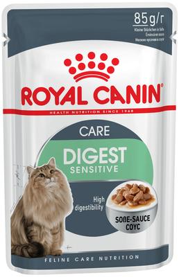 Royal Canin Digest Sensitive -влажный корм для кошек старше года с чувствительным пищеварением, 85 г