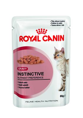 Royal Canin Instinctive - влажный корм для кошек старше 1 года (тонкие кусочки в соусе), 85 г