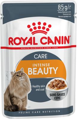 Royal Canin Intense Beauty в соусе - влажный корм для кошек с чувствительной кожей, 85 г