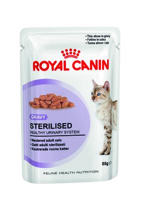Royal Canin Sterilised - влажный корм для стерилизованых котов возрастом от года, соус, 85 г