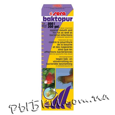 Антибактериальное лекарство для аквариума Sera baktopur 100 мл на 1600 л