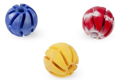 Sumplast игрушка мяч спиральный резиновый №1, ваниль