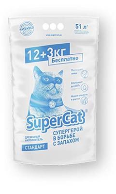Collar SuperCat Стандарт наполнитель для кошачьего туалета , 12+3 кг