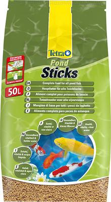 Tetra Pond Sticks корм для золотых рыбок и карпов КОИ 50 л ПЛЮС 1 ЛИТР КОРМА В ПОДАРОК!