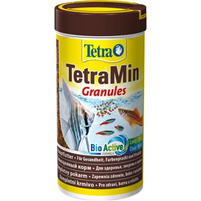 TetraMin Granules основной корм в гранулах для всех видов рыб, 250 мл