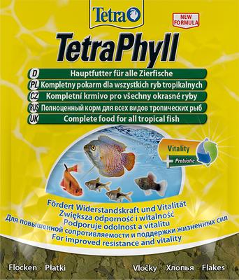 TetraPhyll корм в хлопьях для всех травоядных рыб, 12 гр