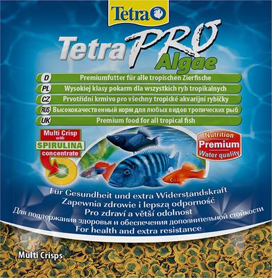 TetraPro Algae Multi-Crisps корм в чипсах для травоядных рыб, 12 г