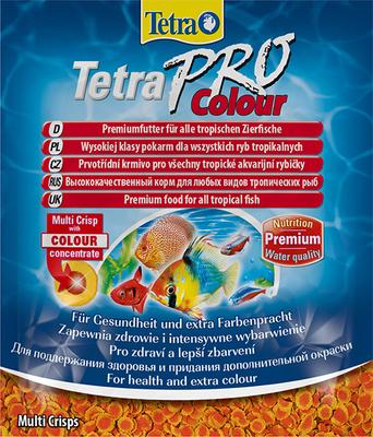 TetraPro Colour Multi-Crisps корм в чипсах для всех видов ярких рыб, 12 г