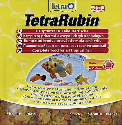 TetraRubin корм в хлопьях для всех видов ярких рыб, 12 г