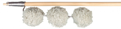 Trixie №45739 палочка с тремя плюшевыми мячиками, 35 см
