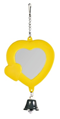 Trixie №5202 - зеркало-сердечко с пластиковым колокольчиком 7см