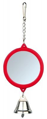 Trixie №5215 - зеркало с колокольчиком пластиковое для клеток 5,5 см