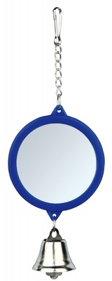 Trixie №5216 - зеркало с колокольчиком пластиковое для клеток 7,5 см