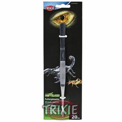 Trixie 76223 - пинцет для кормления рептилий загнутый 30см