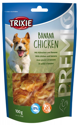 Trixie Banana and Chicken лакомство для собак с курицей и бананом, 100 г