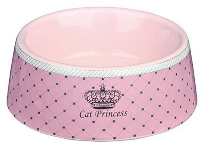 Trixie Cat Princess - миска керамическая розовая 0,18л/12см, 24780