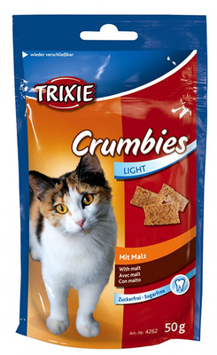 Trixie Crumbies with Malt лакомство с эффектом выведение комочков шерсти 50 г