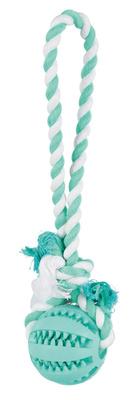 Trixie DENTAfun - игрушка для собак мяч на веревке 7см