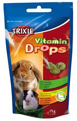 Trixie Drops овощи - витамины для грызунов, 75 г