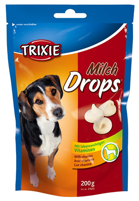 Trixie Drops с молочным вкусом - витамины для собак, 200 г