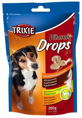 Trixie Drops  - витамины для собак со вкусом бекона, 200 г